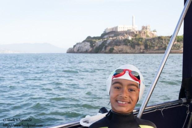 – Anaya's First Alcatraz Swim, San Francisco, CA, USA